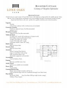 Info Sheet for Rooster Cottage